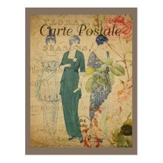 Parisian Vintage Ladies Postcard