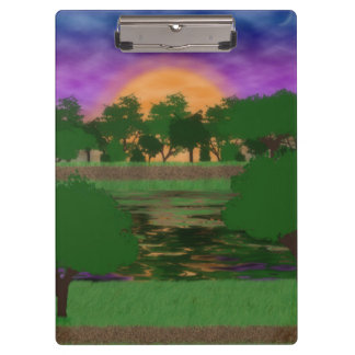 Park Sunset Clipboard