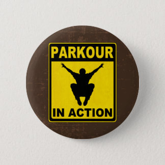 Parkour In Action Signboard 6 Cm Round Badge