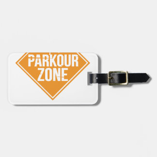Parkour Runaway Extreme Sports Stunt Free Running Luggage Tag
