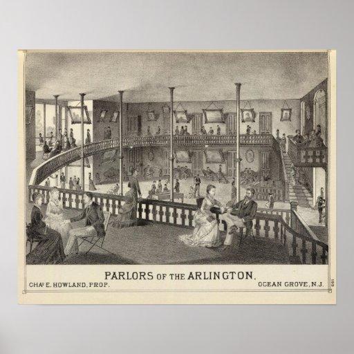 Parlors of the Arlington, Ocean Grove, NJ Poster