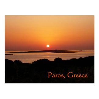 Paros Island, Greece Tranquil Sunset Postcard