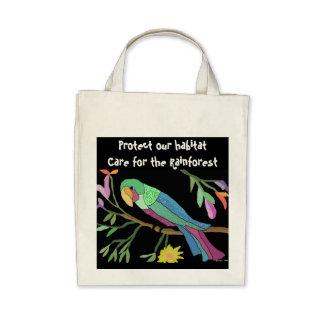 Parrot Habitat Organic Grocery Tote Tote Bags