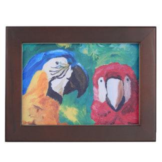 Parrot Love Birds Keepsake Box