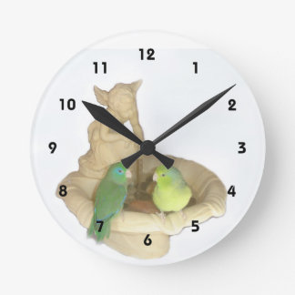 Parrotlet Fountain Wall Clock