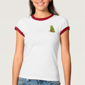 Parrotlets Bird Green Red Ringer womens T-shirt