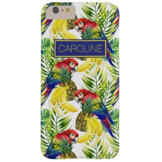 Parrots And Tropical Fruit | Add Your Name Barely There iPhone 6 Plus Case