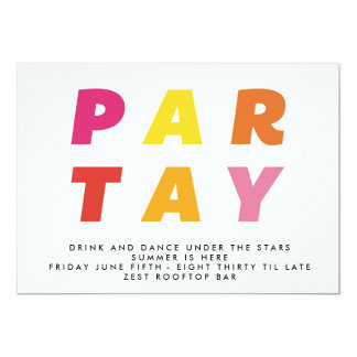 Partay generic party celebration invitation