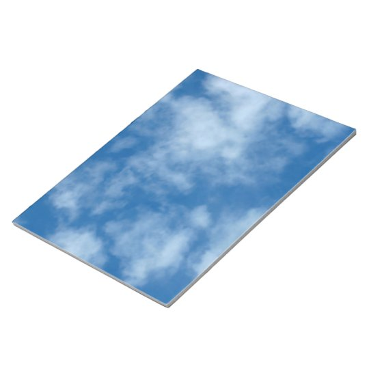 Partly Cloudy Blue Sky Photo Notepad