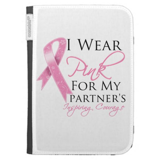 Partner Inspiring Courage Breast Cancer Kindle Keyboard Covers