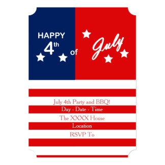 Party And BBQ July 4th Party Invitation