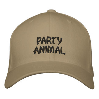PARTY ANIMAL EMBROIDERED HAT