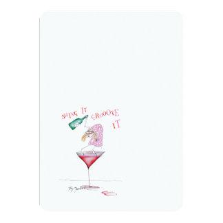 party animal, tony fernandes 13 cm x 18 cm invitation card
