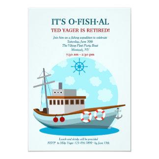 Party Boat Fishing Invitation