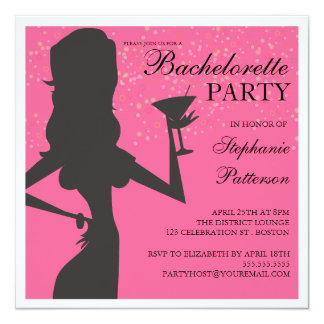 Party Bride Cocktail Bachelorette Party Invitation