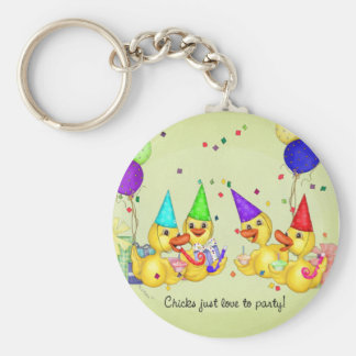 Party Chicks  Keychain