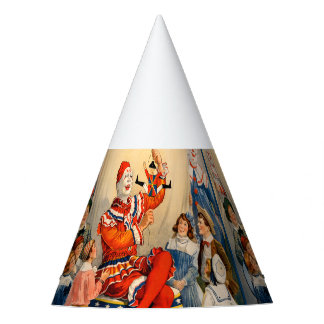 Party Hat with a Vintage Circus Poster