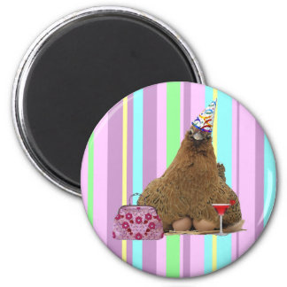 Party Hen fridge magnet