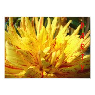 PARTY Invitations custom Yellow Dahlia Flower