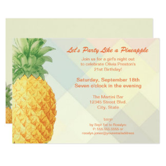 Party Like a Pineapple   Invitation Card