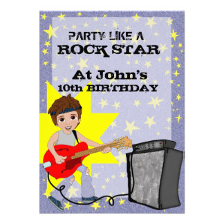 Party Like a Rock Star Custom Announcements