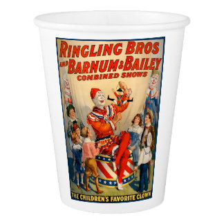 Party Paper Cup  with a Vintage Circus Poster