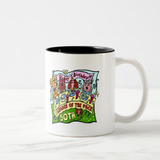 Party Pets 50th Birthday Gifts Two-Tone Coffee Mug