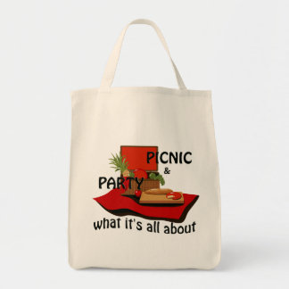Party Picnic Basket Tote Bag