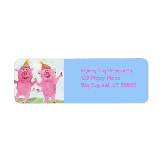 Party Pigs Avery Label