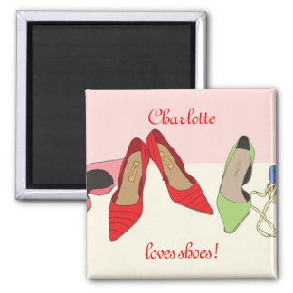 Party Shoes design - personalised Magnets