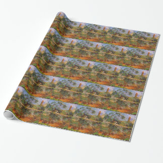 Party wall by Paul Gauguin Wrapping Paper