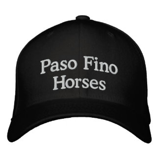 Paso Fino Horses Embroidered Hat