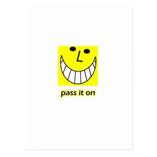 Pass it on postcard