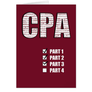 Passing 3 Parts CPA Congratulations Card