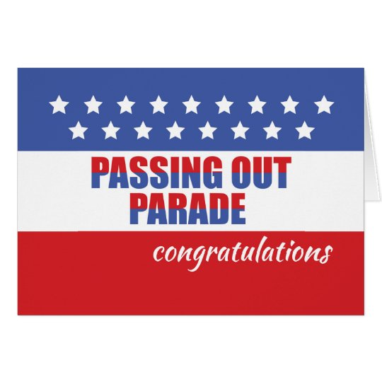 Passing Out Parade Congratulations, Graduation Card