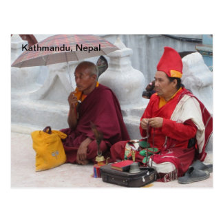 Passing Time in Boudhanath Postcard