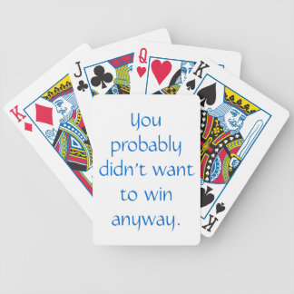 Passive-Aggressive Bicycle Playing Cards