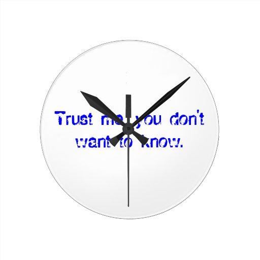 Passive-Aggressive Wall Clock