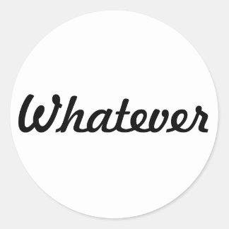 Passive-Aggressive Round Sticker
