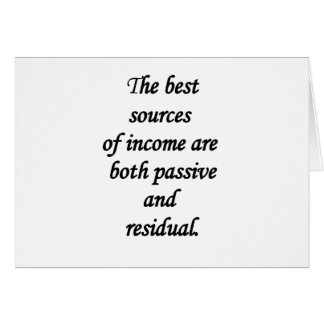 passive and residual sources of income greeting card