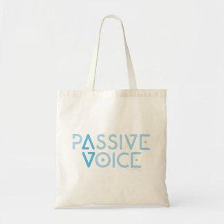 Passive Voice Budget Tote Bag