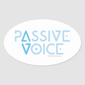 Passive Voice Oval Sticker