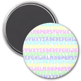 Pastel ABCs Magnet