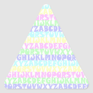 Pastel ABCs Triangle Sticker