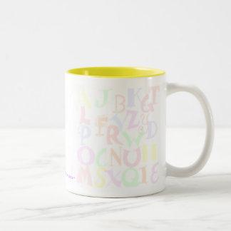 Pastel Alphabet #1 Two-Tone Coffee Mug