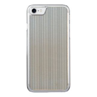Pastel Baby Blue Vertical Stripes Carved iPhone 8/7 Case