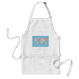 Pastel Baby Stripes Map Aprons