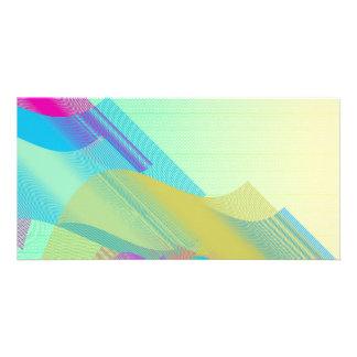 Pastel Bezier half Picture Card