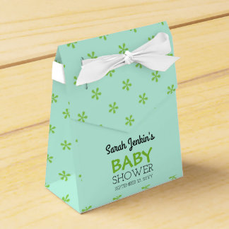 Pastel Birds Baby Shower Favor Box