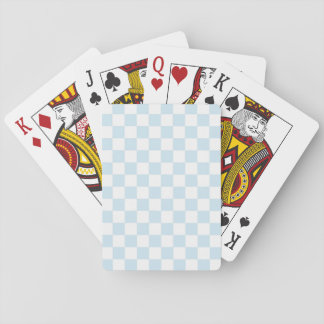 Pastel Blue and White Checkerboard Playing Cards